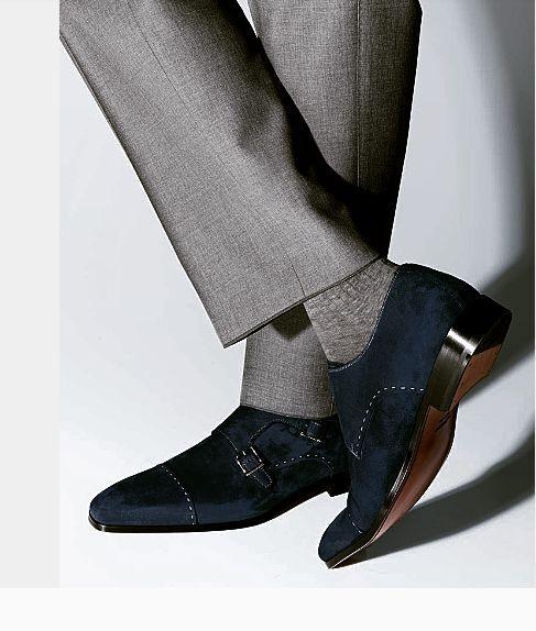 Handmade men monk strap schuhe, schuhe, schuhe, suede schuhe, men Navy Blau schuhe, formal dress sh 91601d