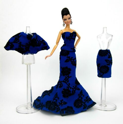 Eaki Blue Mix /& Match Evening Dress Outfit Gown Silkstone Barbie Fashion Royalty