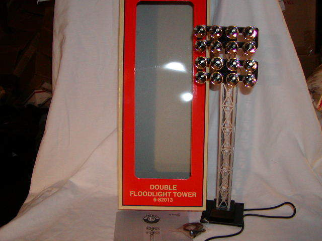 Lionel 6-82013 Double Floodlight Tower O-27 New Illuminated Plug Play Accessory
