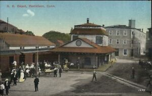 Danielson-CT-RR-Train-Station-Depot-c1910-Postcard