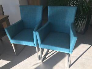 2er Set Freischwinger Stühle Mit Armlehne Musterring Nova Türkis