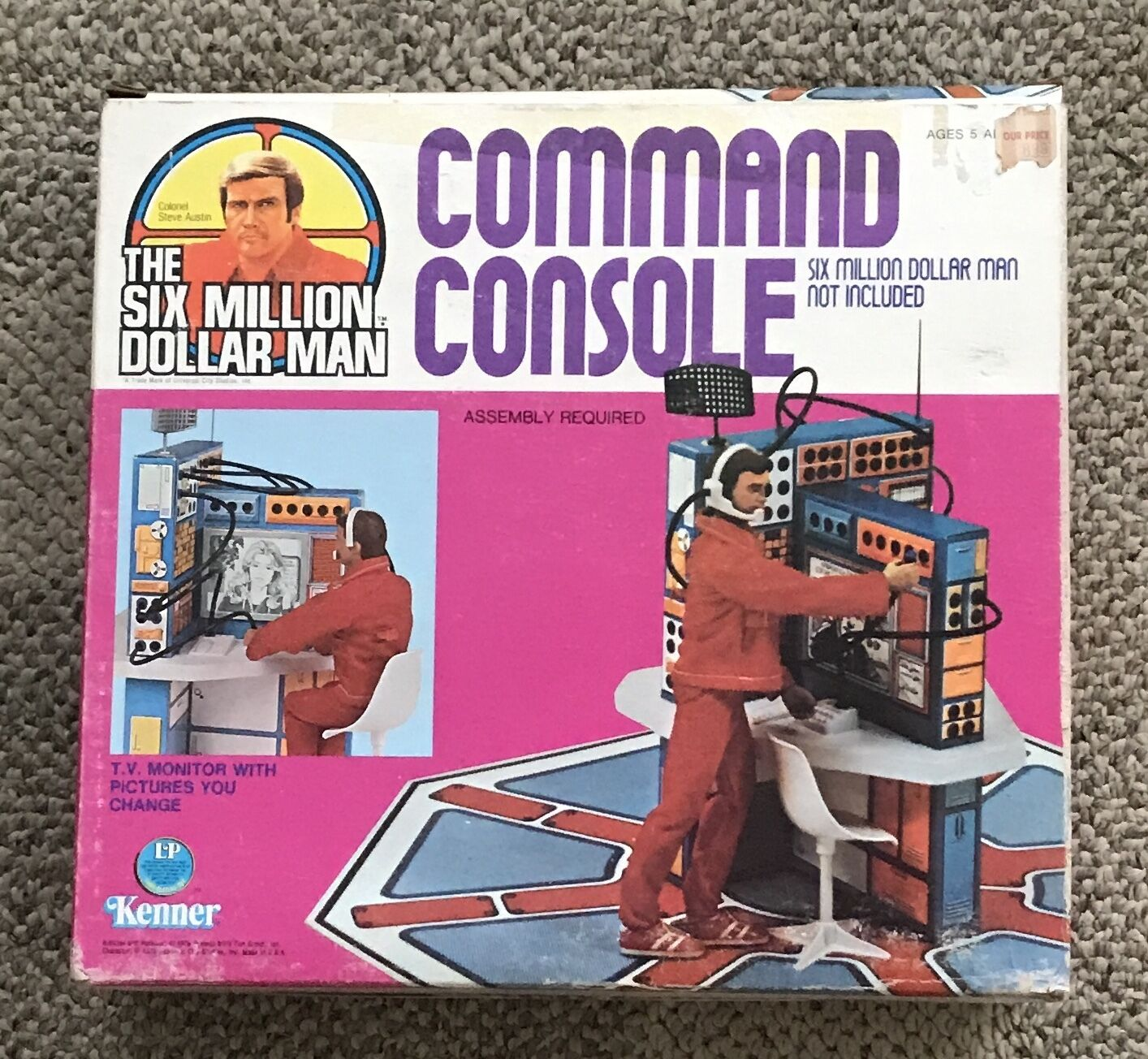KENNER  SIX MILLION DOLLAR MAN  COMMAND CONSOLE  BOXED  UNUSED 1976