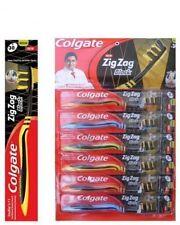 6 X Colgate Zig Zag Black Medium Tooth Brush Toothbrush Deep Cleaning BetWN Teet
