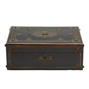 FINE-ANTIQUE-PORTRAIT-MOUNTED-WORK-BOX-19TH-C