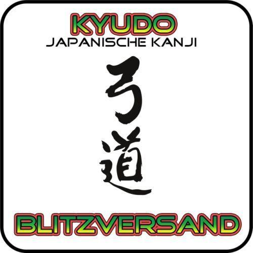 Arc Sport Kanji 6 x Kyudo Kyu-Do autocollant pour votre voiture! emplacement Libre