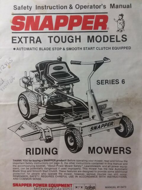 snapper rear engine riding lawn mower tractor owners manual hi vac series 6  snapper lawn mower engine diagram #9
