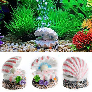 Fish & Aquariums Aquarium Artificial Aquatic Grass Fish Tank Ornament Shell Pearls Decoration