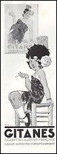 Publicité  Cigarettes GITANES Tabac  Tobacco vintage print ad  1935 - 5h