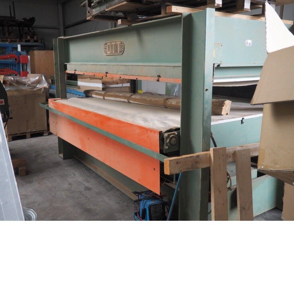 Furnierpresse Ott 300 KD-U gebraucht Presse Durchlaufpresse Flächenpresse 36573