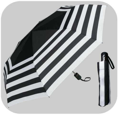 "RainStoppers Rain//Sun UV 42/"" Arc Stripe Mini Auto-Auto Rain Umbrella"