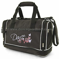 Ladies Girls Roch Valley Black Shoulder Dance Ballet Bag Holdall FUNKYB