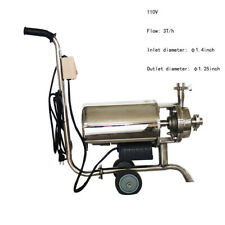 Food Grade 1pc 110v 3th Sanitary Centrifugal Pump For Conveying Milk Beverage