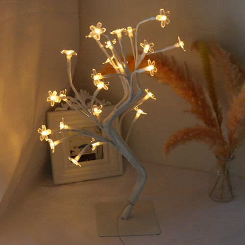 Cherry Blossom Tree Night Light Warm White Lighting Home Party Decoraction ZB
