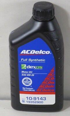 Synthetic Blend Oil >> ACDelco Synthetic Blend 19352900 0W20 DEXOS QT 10-9143 | eBay
