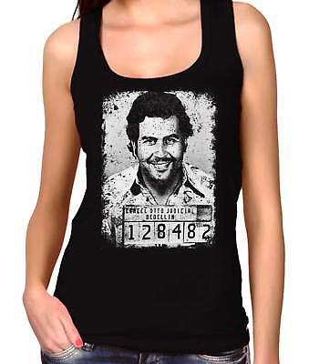Camiseta Hombre Tirantes Plata o Plomo-Narcos-Pablo Escobar 35mm