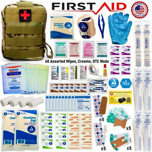 96 Pieces First Aid Kit Trauma Bag First Responder Military Molle Pouch IFAK