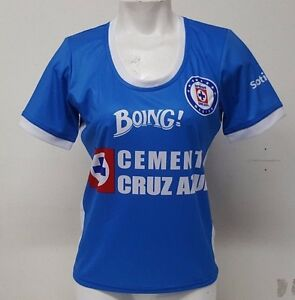 6d98409f526 Cruz Azul FC La Maquina Celeste Women's Soccer Jersey Made in Mexico ...
