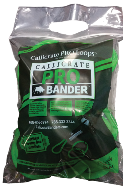 Callicrate Pro Bands Castrate Bull Castration Easy to Use 25 Count