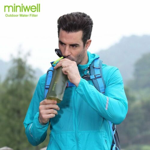Portable Water Filter Emergency Survival Kit Camping Hiking Outdoor Sports Clean