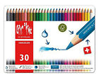 CARAN D'ache Tin 30 Fancolor Water Soluble Colour Pencils Assorted Colours
