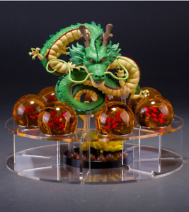 Anime-Dragon-Avec-7-Boules-Dragon-Stereo-Ball-Z-Stand-etoiles-cristal-vert
