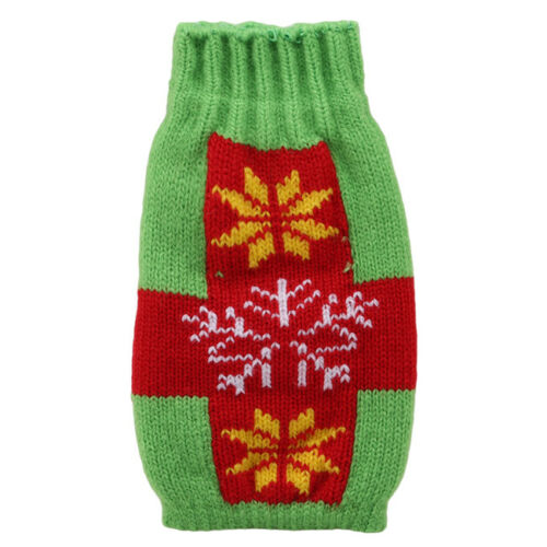 Christmas Knitted Sweater Wine Bottles Cover Wrap Xmas Party Decor IT