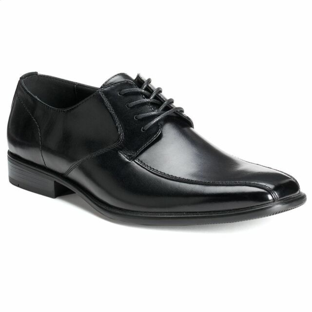 61773d75729 VAN HEUSEN Doug Men s Dress Shoes Black Oxfords Leather   Man Made Lace Up  NEW