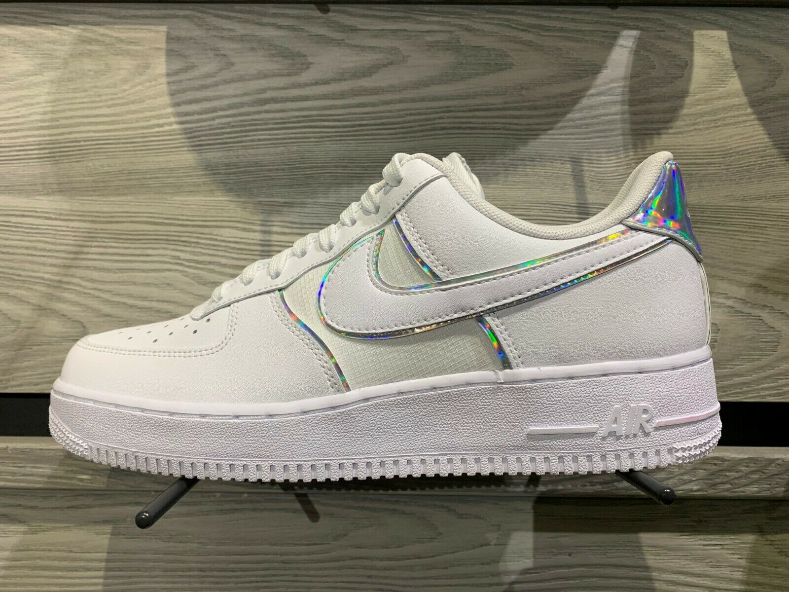Air Force 1 Low Y2k White Iridescent Size 8-13 DS NEW