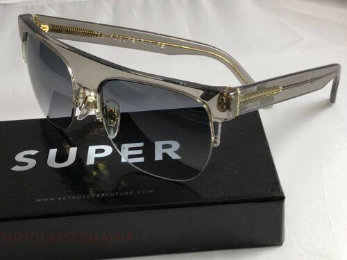 RetroSuperFuture Andrea Crystal Grey Sunglasses SUPER 328 NIB FAST SHIP