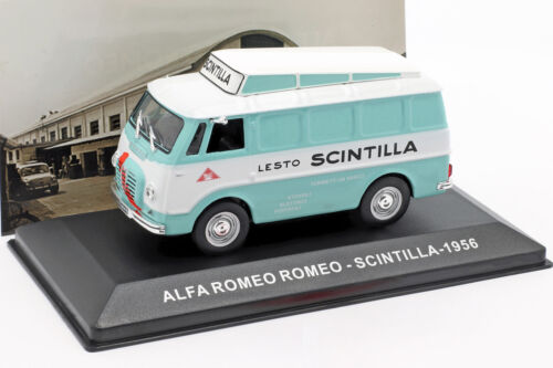 Alfa Romeo Van Scintilla Turquesa Blanco 1:43 Altaya