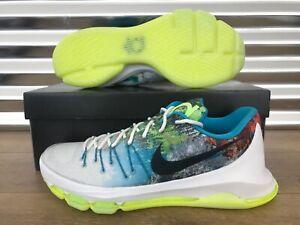 new products 50b5a ea96e NIke Zoom KD 8 VIII N7 Shoes Summit White Liquid Lime Blue ...