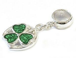 STERLING-SILVER-ENAMELLED-LUCKY-HORSE-SHOE-DANGLE-BEAD-CHARM