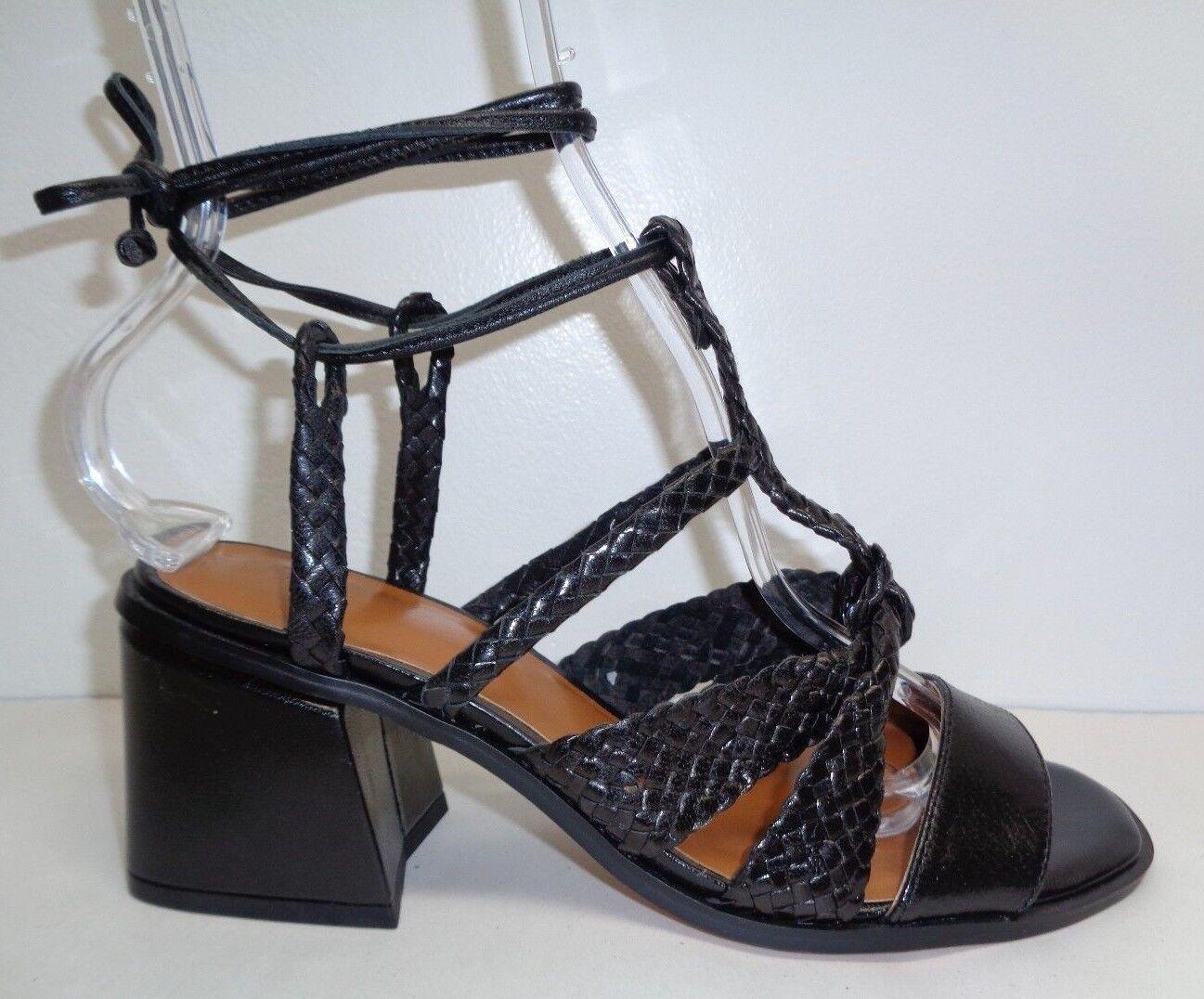 H By Halston Talla 8.5 Tacos Negro Cuero Cuero Cuero Trenzado Piper Sandalias nuevo Zapatos para mujer  muchas sorpresas