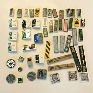 Lego-Lot-of-50-Computer-Terminal-Pieces-Technic-Star-Wars-Minecraft-Spaceship