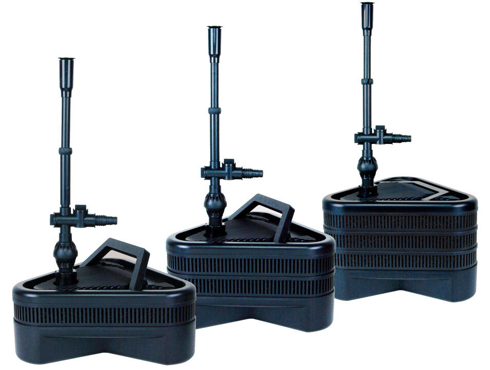 Lifegard aquatics all in one triple pond filter system for Large pond filtration system
