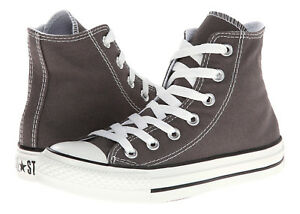 Converse Chuck Taylor All Star Hi Tops Charcoal All Sizes Womens ... 108665422