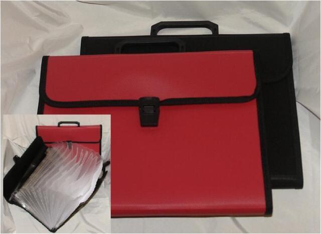 A4 Foolscap Expanding File Trendy Folder Pocket Storage Organiser A-Z Pockets