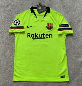 reputable site 1f673 754f3 Details about Lionel Messi FC Barcelona Soccer Jersey Brand New Men's Green  Jersey - Size XL