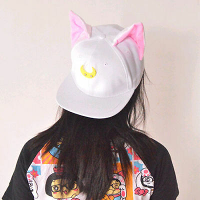 Cosplay Anime Sailor Moon 20th Luna Cat Tsukino Usagi Snapback baseball cap hat