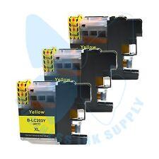 3 Yellow New LC203XL 203 InkCartridges For Brother J4620DW J480DW J5720DW J885DW