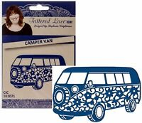 Camper Van Metal Die Tattered Lace Cutting Dies Vw Bus Hippie 60's Vehicle D337