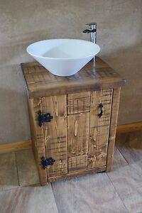 Image Is Loading New Rustic Chunky Solid Wood Bathroom Sink Vanity