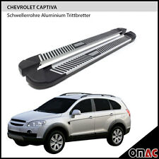 Schwellerrohre Aluminium Trittbretter Chevrolet Captiva ab 2006 Pyramid (173)