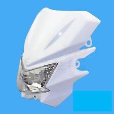 12V White Street Fighter Universal Headlight Headlamp Fairing kit for Honda KTM