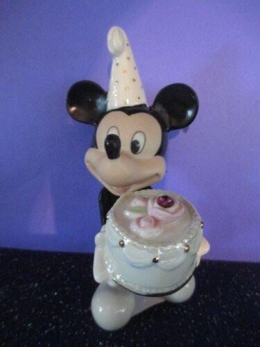 """Lenox Disney MICKEY MOUSE  /""""Happy Birthday to You FEBRUARY /"""" Figure NIB  /& COA"""