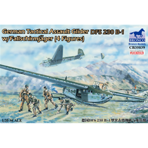 1//35; German Tactical Assault Glider DFS 230 B-1 con 4 Fallschirm Bronco Models