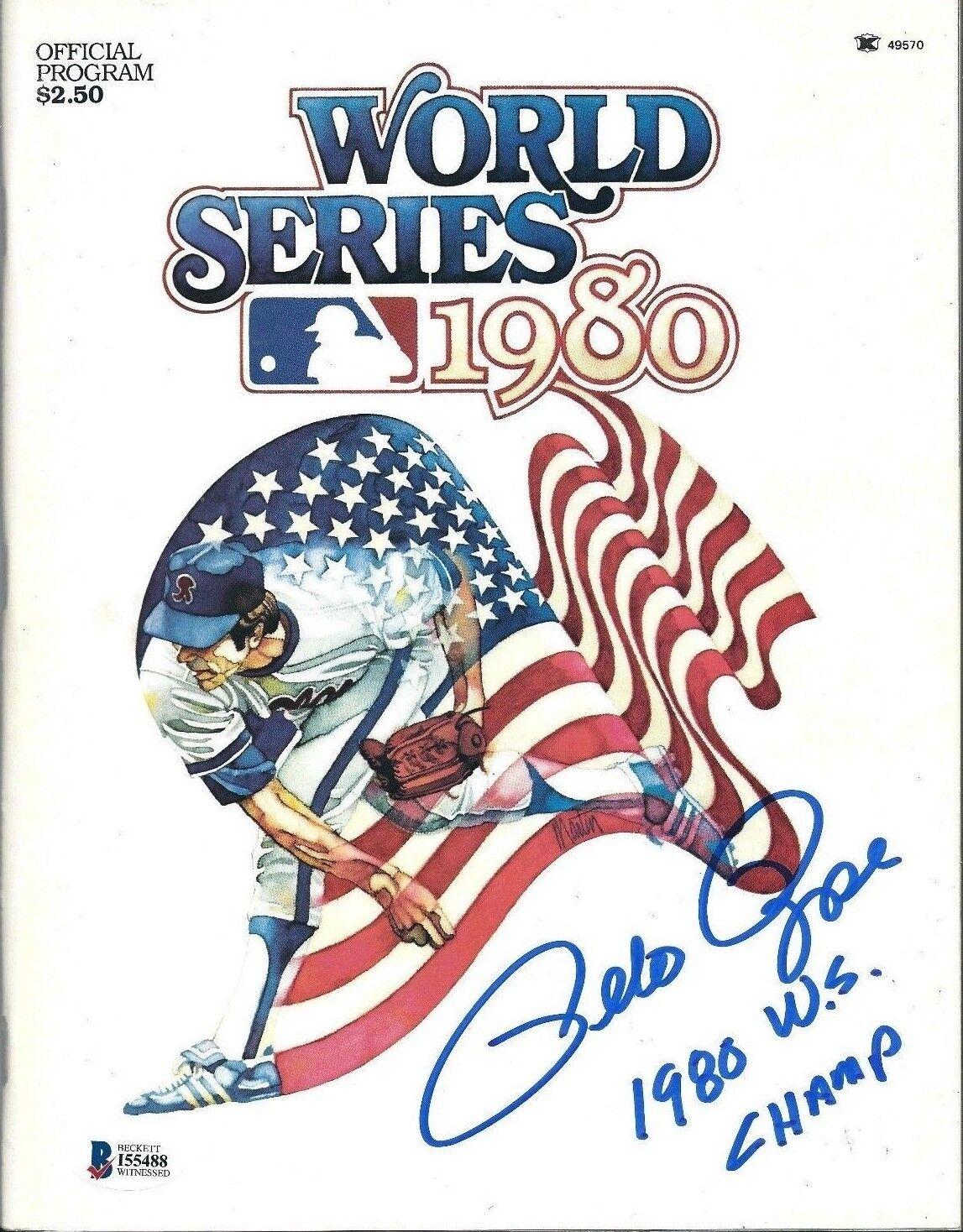 Pete Rose Signed 1980 World Series Baseball Program