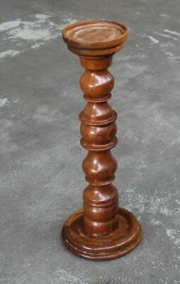 EntrüCkung Blumensäule , Figuren Ständer Aus Massiv Holz - Wohl 1960er Jahre - Ca 78,5 Cm H
