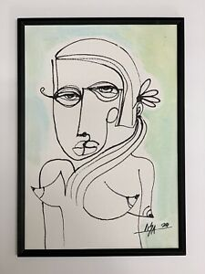 PAINTING-ORIGINAL-ACRYLIC-ON-CANVAS-PAD-FRAME-INCLUDED-CUBAN-ART-by-LISA