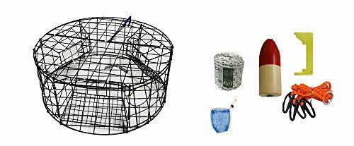 KUFA (CT110+CAM1) Vinyl Coated Round Crab Trap with Crabbing Accessory Kit
